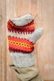 χέρι - γίνοντα γάντι Στοκ Εικόνες