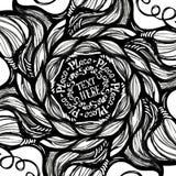 Χέρι - γίνοντα γράφοντας πρότυπο στο αφηρημένο υπόβαθρο doodle Στοκ Φωτογραφία
