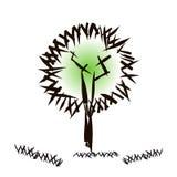 Χέρι - γίνοντα doodle σχέδιο του δέντρου στο δημιουργικό ύφος ελεύθερη απεικόνιση δικαιώματος
