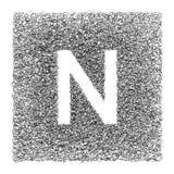 Χέρι - γίνοντη πηγή που επισύρεται την προσοχή με τη γραφική μάνδρα στο άσπρο υπόβαθρο Στοκ Εικόνες