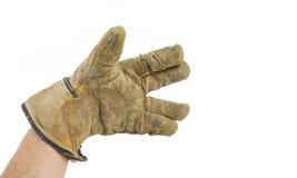 χέρι γαντιών Στοκ φωτογραφίες με δικαίωμα ελεύθερης χρήσης