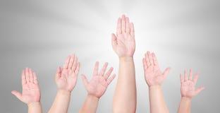 χέρι για να προσφερθεί εθ& Στοκ Εικόνα