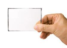 χέρι γυαλιού καρτών Στοκ φωτογραφίες με δικαίωμα ελεύθερης χρήσης