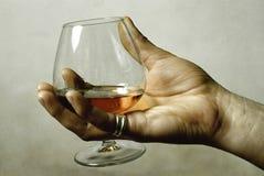 χέρι γυαλιού Στοκ εικόνα με δικαίωμα ελεύθερης χρήσης
