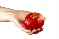 Χέρι γυναίκας που κρατά ένα μήλο Στοκ φωτογραφία με δικαίωμα ελεύθερης χρήσης