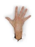 χέρι δάχτυλων που διαδίδ&epsilo Στοκ φωτογραφία με δικαίωμα ελεύθερης χρήσης