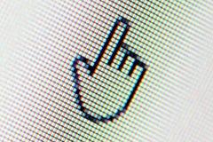 Χέρι δρομέων στο όργανο ελέγχου υπολογιστών Στοκ φωτογραφίες με δικαίωμα ελεύθερης χρήσης