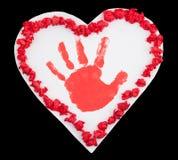 χέρι δώρων - γίνοντας βαλεντ Στοκ φωτογραφίες με δικαίωμα ελεύθερης χρήσης