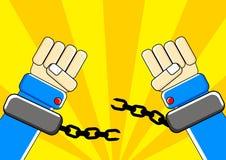 χέρι ελευθερίας απεικόνιση αποθεμάτων