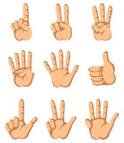 χέρι εννέα δάχτυλων ένα Στοκ Εικόνες