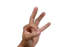 χέρι εντάξει Στοκ Φωτογραφίες