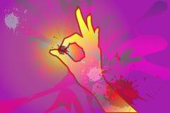 Χέρι ΕΝΤΑΞΕΙ Στοκ εικόνες με δικαίωμα ελεύθερης χρήσης
