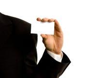 χέρι επαγγελματικών καρτώ& Στοκ φωτογραφία με δικαίωμα ελεύθερης χρήσης