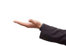 Χέρι επιχειρηματία ανοικτό στοκ φωτογραφία