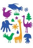 Χέρι-ζώα Στοκ Εικόνες