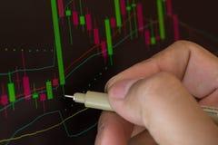 Χέρι και έννοια αγοράς χρηματιστηρίου επιχειρησιακή Στοκ εικόνες με δικαίωμα ελεύθερης χρήσης