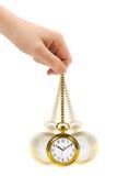 Χέρι και αναδρομικό ρολόι Στοκ εικόνες με δικαίωμα ελεύθερης χρήσης