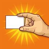 Χέρι και επαγγελματική κάρτα Στοκ εικόνες με δικαίωμα ελεύθερης χρήσης