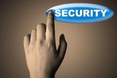 Χέρι και κουμπί Στοκ φωτογραφία με δικαίωμα ελεύθερης χρήσης