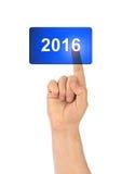 Χέρι και κουμπί 2016 Στοκ Εικόνες