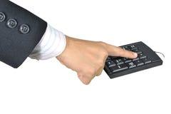 Χέρι και μαύρο πληκτρολόγιο. Στοκ φωτογραφίες με δικαίωμα ελεύθερης χρήσης