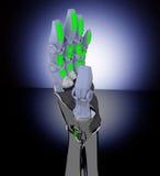 Χέρι και πεταλούδα ρομπότ Στοκ εικόνα με δικαίωμα ελεύθερης χρήσης