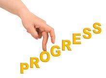 Χέρι και πρόοδος σκαλοπατιών στοκ εικόνα