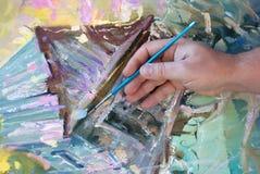 χέρι καλλιτεχνών Στοκ φωτογραφία με δικαίωμα ελεύθερης χρήσης