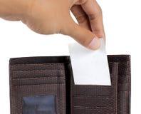 χέρι καρτών μέσα στη λήψη του  Στοκ φωτογραφία με δικαίωμα ελεύθερης χρήσης