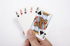 χέρι καρτών το παιχνίδι μου Στοκ φωτογραφία με δικαίωμα ελεύθερης χρήσης