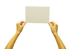 χέρι καρτών Στοκ Εικόνες
