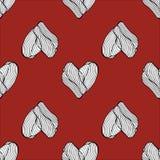 Χέρι καρδιών που επισύρεται την προσοχή στο κόκκινο σχέδιο επίσης corel σύρετε το διάνυσμα απεικόνισης Στοκ φωτογραφίες με δικαίωμα ελεύθερης χρήσης