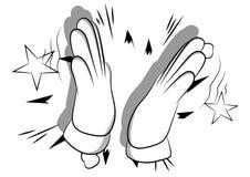 Χέρι κινούμενων σχεδίων που χτυπά επάνω το υπόβαθρο κόμικς διανυσματική απεικόνιση
