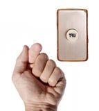 χέρι κλήσης κουμπιών στοκ εικόνα με δικαίωμα ελεύθερης χρήσης