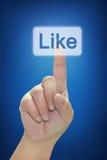 χέρι κουμπιών όπως την πίεση Στοκ φωτογραφίες με δικαίωμα ελεύθερης χρήσης