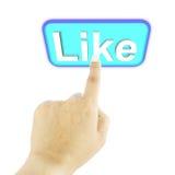 χέρι κουμπιών όπως το λευκό ώθησης διανυσματική απεικόνιση