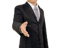 Χέρι κουνημάτων επιχειρηματιών που απομονώνεται στο άσπρο υπόβαθρο Στοκ εικόνες με δικαίωμα ελεύθερης χρήσης