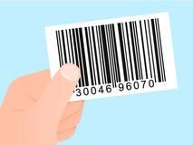χέρι κώδικα καρτών ράβδων Στοκ εικόνες με δικαίωμα ελεύθερης χρήσης