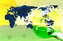 χέρι λουλουδιών δικοί τ&omic Στοκ Εικόνες
