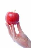 χέρι μήλων στοκ εικόνα