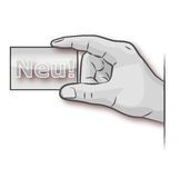 Χέρι με μια νέα επαγγελματική κάρτα Στοκ Εικόνα