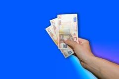 Χέρι με τα χρήματα Στοκ εικόνα με δικαίωμα ελεύθερης χρήσης
