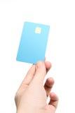 Χέρι με την πιστωτική κάρτα στοκ εικόνες