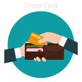 Χέρι με την πιστωτική κάρτα Στοκ Εικόνα