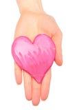 Χέρι με τη σπασμένη καρδιά της αλατισμένης ζύμης Στοκ φωτογραφία με δικαίωμα ελεύθερης χρήσης