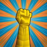 Χέρι με τη σφιγγμένη πυγμή Στοκ εικόνες με δικαίωμα ελεύθερης χρήσης