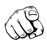 Χέρι με το δάχτυλο που δείχνει τη διανυσματική απεικόνιση ελεύθερη απεικόνιση δικαιώματος