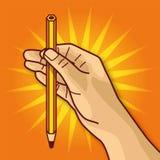 Χέρι με το μολύβι Στοκ Εικόνες