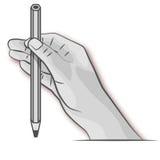 Χέρι με το μολύβι Στοκ εικόνα με δικαίωμα ελεύθερης χρήσης