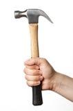 Χέρι με το σφυρί Στοκ εικόνα με δικαίωμα ελεύθερης χρήσης